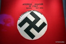 Caotured Nazi flag