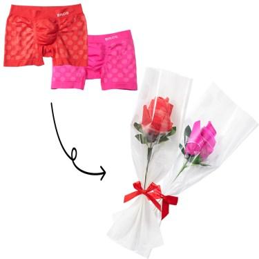 大人女子はバレンタインに「パンツ」を贈る!! ワコールからお花の形にラッピングされた「パンツフラワー」が登場!!