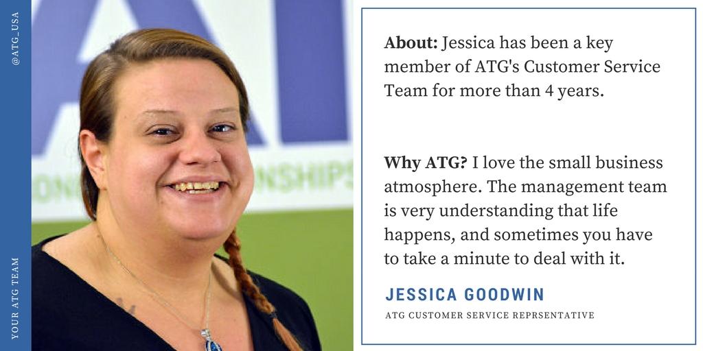 #FridayFaces of ATG: Meet Jessica