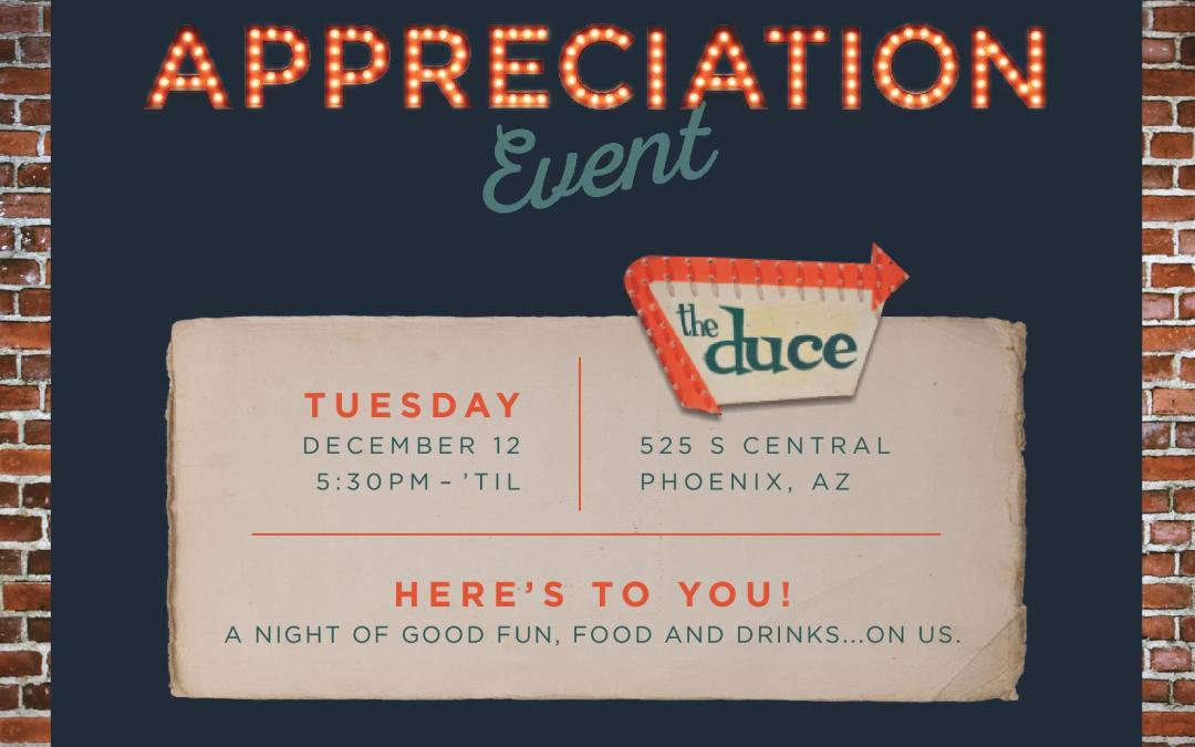You Are Invited To Our Customer Appreciation Event
