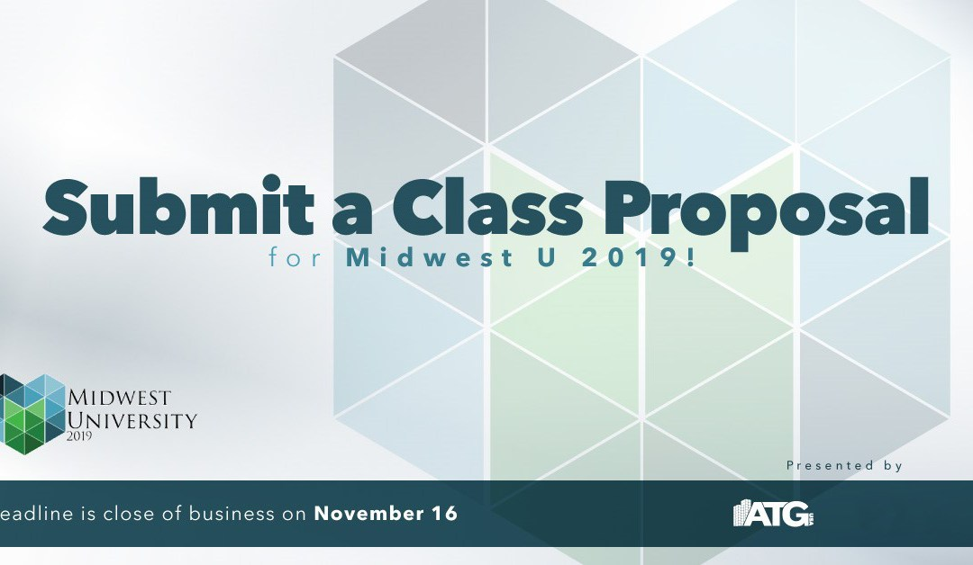 Submit A Class Proposal for Midwest U 2019!