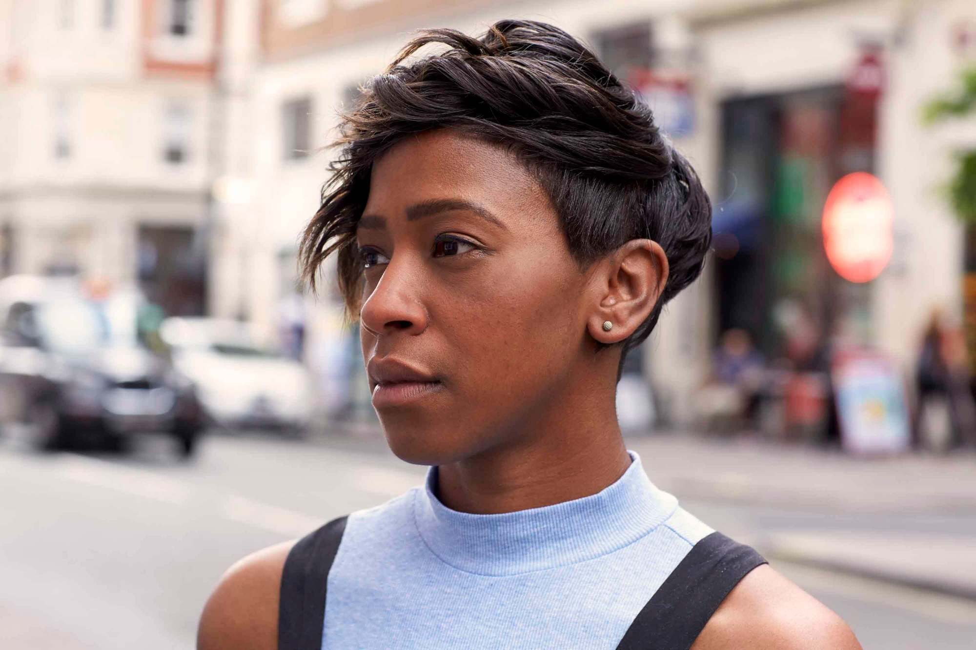 Image result for pixie cut black woman