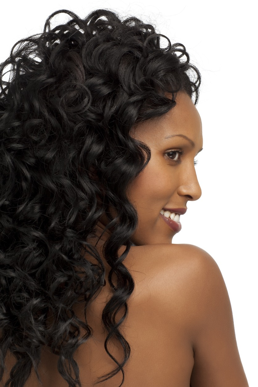 Middle Part Loose Curl Hairstyles