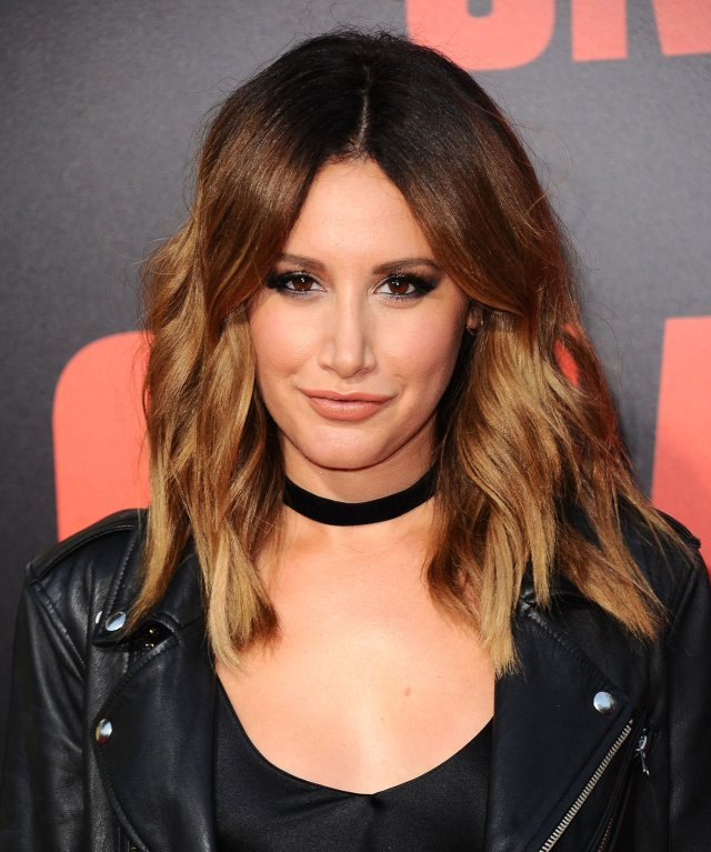 ashley tisdale just got sultry dark hair for summer and we