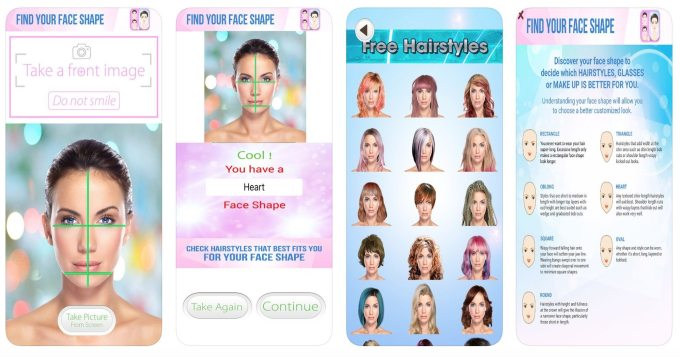 know the best hairstyles for your face shape through these apps