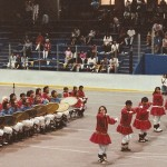 A dance group performs at WEIO in 1993. Photo by Angela Gonzalez