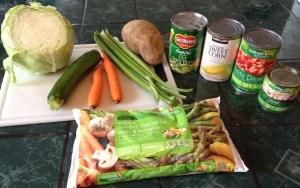 Sample soup ingredients. Photo by Angela Gonzalez