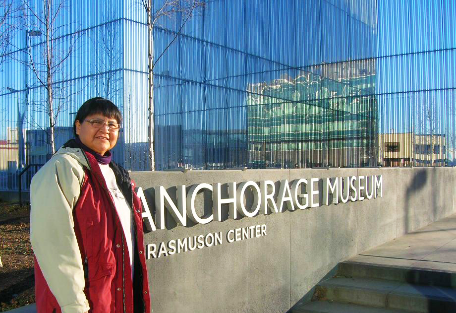 Marlene Watson visited the Anchorage Museum and many other local attractions. Courtesy photo