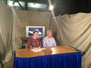 Sharon McConnell interviewed Native leader, Byron Mallott, during the AFN broadcast. Photo by Sharon Hildebrand