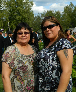 Esther McCarty and her daughter, Alitha, attended a wedding in Fairbanks in 2012. Photo by Angela Gonzalez