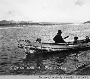 """A typical scene at Ruby, Alaska."" Photo courtesy of archives, University of Alaska, Fairbanks"