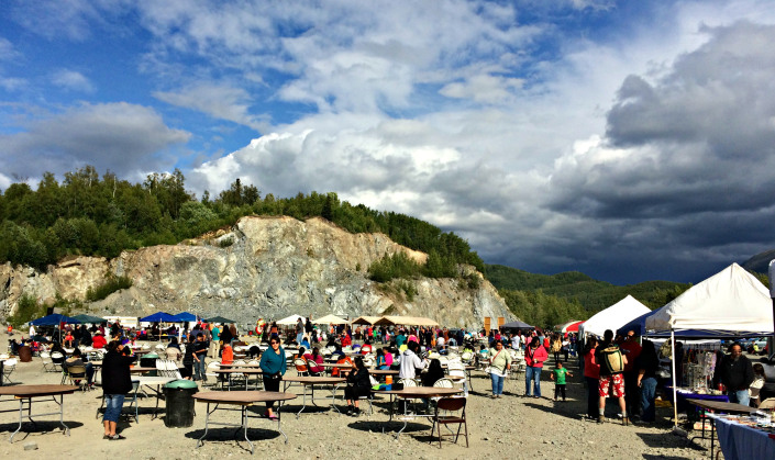 Last day of 2014 Eklutna Potlatch/Powwow. Photo by Angela Gonzalez