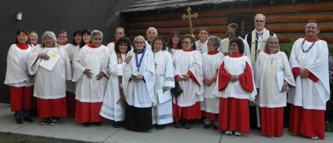 Tukudh Holy Communion participants. Photo courtesy of Allan Hayton