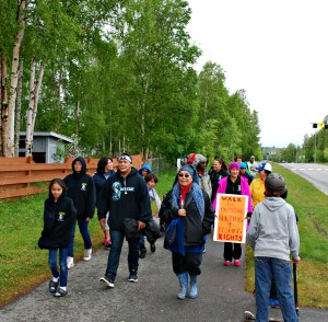 Samuel Johns participates in the Walk for Tsucde in May in Anchorage. Photo by Angela Gonzalez