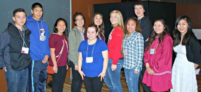 Youth Ambassadors at the First Alaskans Institute's Elders & Youth Conference. Photo by Angela Gonzalez