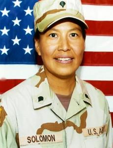 Wanda Solomon – Alaska Native Guardswoman. Courtesy photo