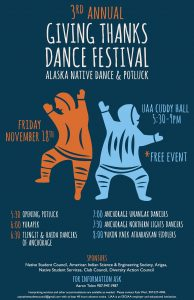 The Giving Thanks Dance Festival & Potluck was held at UAA on November 18.