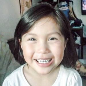My niece, Sasha, in Huslia in 2014. Photo by Solomon Yatlin