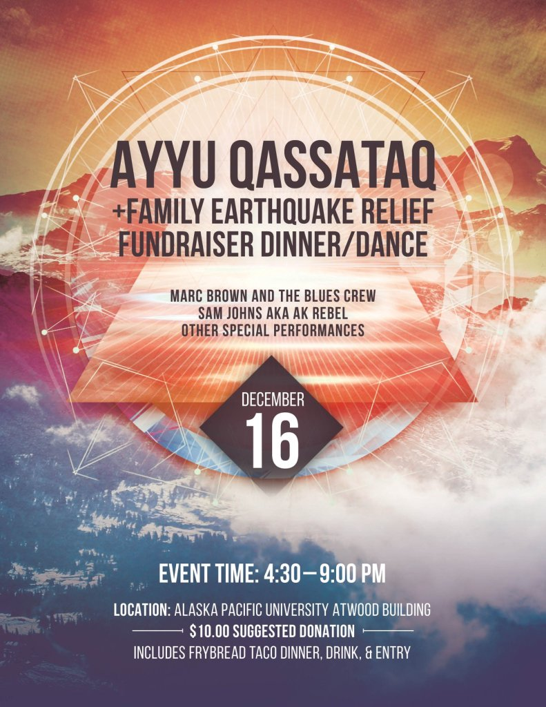 A fundraiser will be held for Ayyu Qassataq and her family on Sunday, December 16.