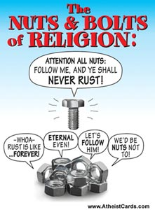 The Nuts Amp Bolts Of Religion Atheist Cards