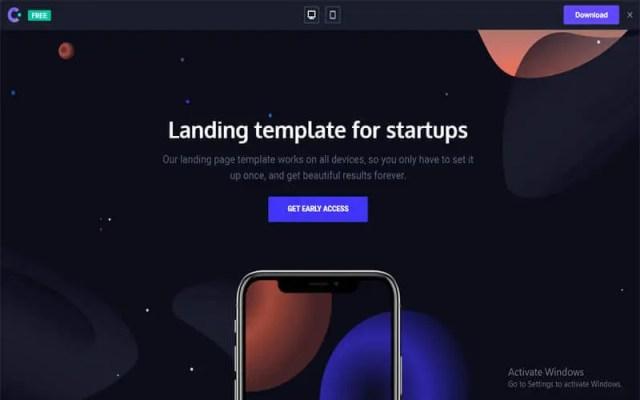 Venus website for free templates