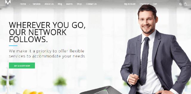 VOIP telecom wordpress theme