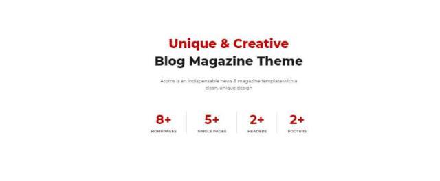 blog website wordpress theme