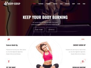 DietShop ( Free ) : WordPress Theme Bodybuilding and Personal Trainer