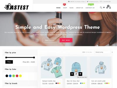 Fastest Shop ( Free ) WordPress / WooCommerce Theme