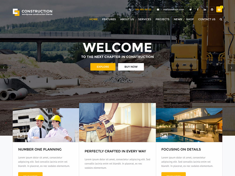 25 Best Construction Company Wordpress Themes 2020 Athemes