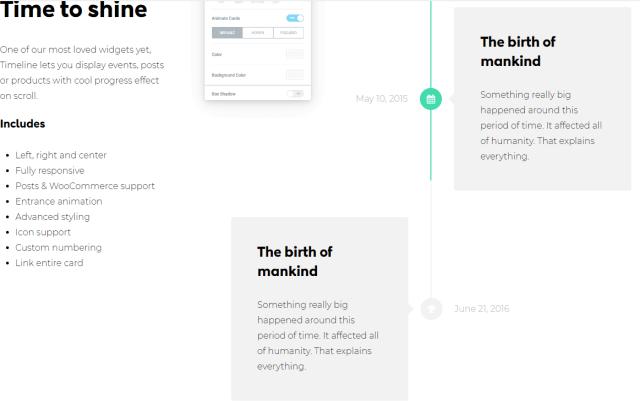 new elementor widgets for timeline