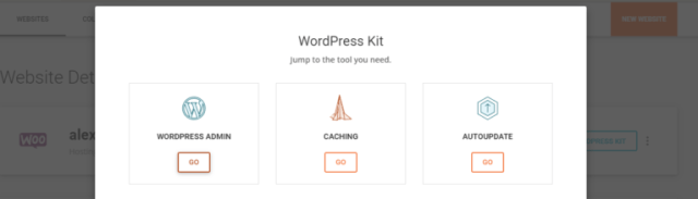 Using a one-click login for the WordPress admin page.