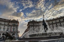 rome fountain - hdr