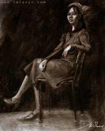 (Charcoal and Newsprint, 2006) College life drawing.
