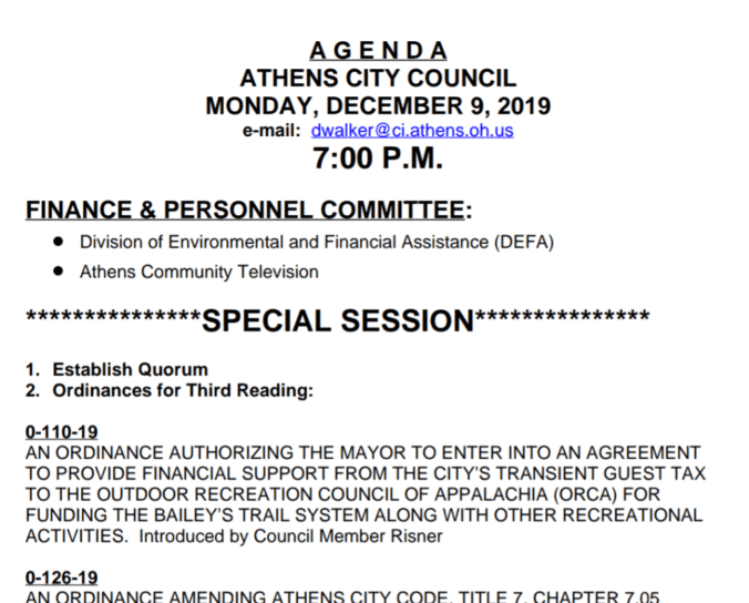 City Council Agenda Dec 9, 2019