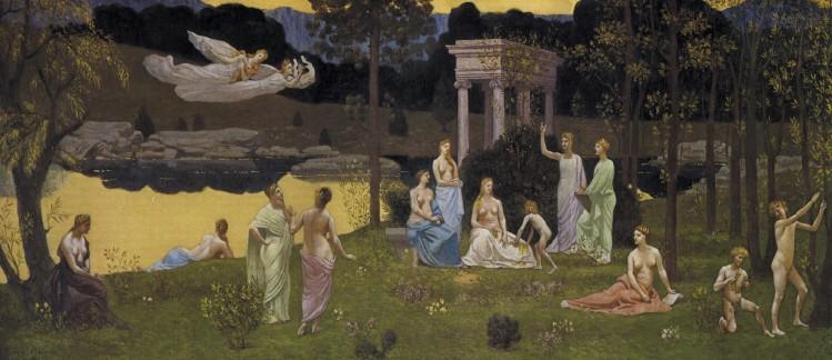 Pierre Puvis de Chavannes (1824-1898): Le Bois sacré cher aux arts et aux muses. © Musée des Beaux-Arts de Lyon