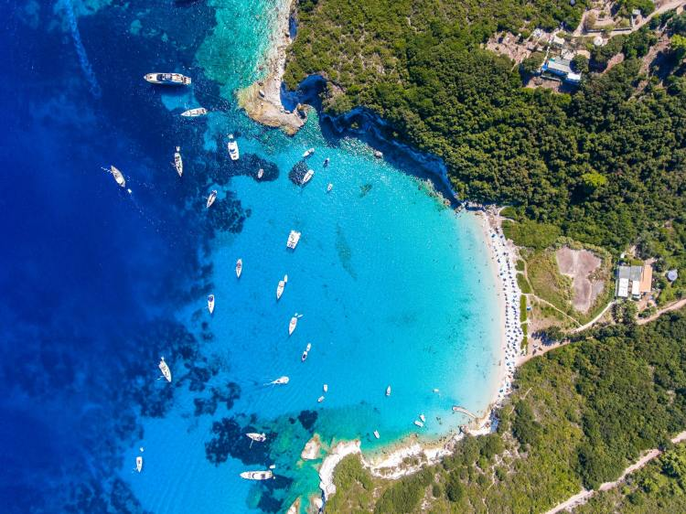 Antipaxos photo from the top