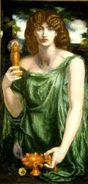 Mnemosyne (color) Rossetti Mnemosyne (1881), a Pre-Raphaelite interpretation of the goddess by Dante Gabriel Rossetti