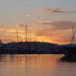 Sunset next to the sea shore – Flisvos