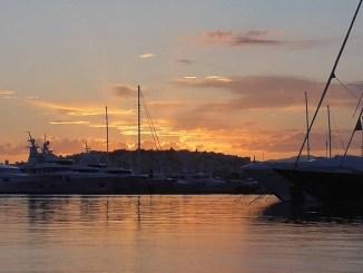 Sunset next to the sea shore - Flisvos