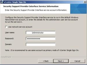 SSO - Service Account Error