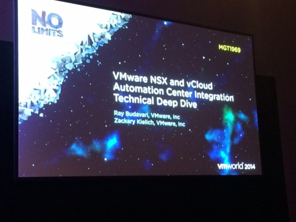 MGT1969 - vCloud Automation Center and NSX Integration Technical Deep Dive