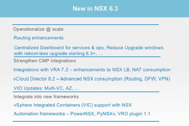 NSX 6.3 - Automation
