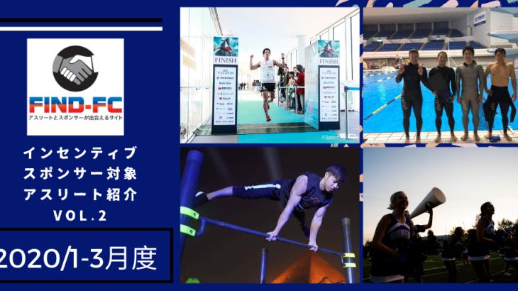 Find-FC2020年1-3月度インセンティブスポンサー候補アスリート紹介VOL.2