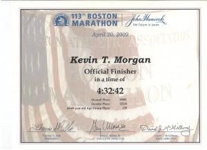 FitOldDog's finish time for the Boston Marathon 2009