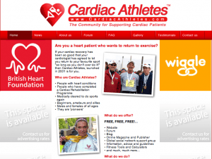 Cardiac Athletes a site where people with heart problems can find their peers and talk exercise. From: http://goo.gl/1cUJs