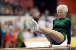 Johanna Quaas, 86-year old gymnast,