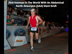 FitOldDog finishing the Lake Placid Ironman 2011, after his aortic surgery recovery is complete.