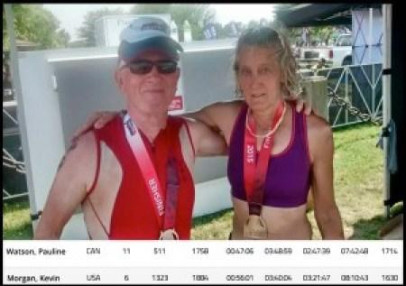 FitOldDog and Pauline finish 2015 Eagleman Half Ironman