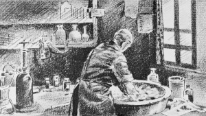 Running pains: Ignaz Semmelweis washing his hands